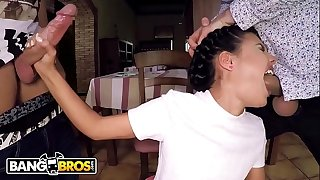 BANGBROS - Hot Young Waitress Apolonia Working Rock hard For The Money