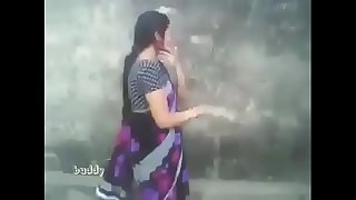 indian hot aunty in saree outdoor suck and titty press