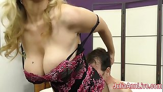 Milf Julia Ann Taunts Slave with her Feet!