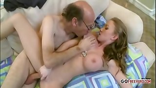 Youthful hotty fucked by old ugly man
