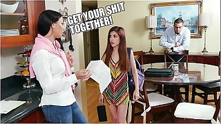 DON'T FUCK MY DAUGHTER - Step Mom Rachel Starr Giving Teen Sally Squirt Rock hard Time About Her Grades