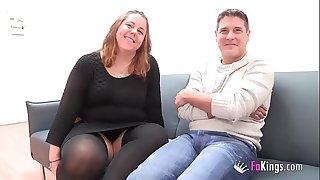 A chubby duo comes from Parejas.NET to their very first porn scene. 'My God, I am so wet'