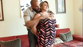 Big Tit BBW MILF Veronica Gags on Thick Latino Cock