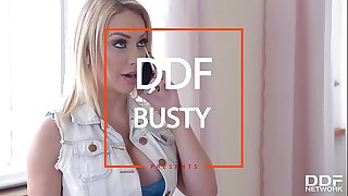 Super warm blonde milf Chessie Kay titty fucked until she screams and creams