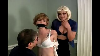 Chloe is Bound, Gagged and Groped by a Guy and a Woman